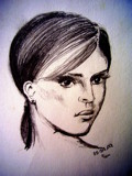 Portrait of a Girl by jttigereye, illustrations->traditional gallery