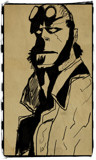 Hellboy by bfrank, illustrations gallery