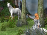 Princess and the Unicorn by FractalsByRee, Computer->3D gallery