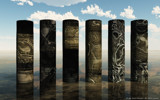 Alien Pillars on Glass by digant, computer->3d gallery