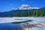 Mt.Rainier from Reflection Lakes by DigiCamMan, photography->mountains gallery
