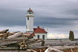 point wilson lighthouse and driftwood by jeenie11, photography->lighthouses gallery
