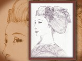 Maiko with sakko hairdo by yetithebeast, Illustrations->Traditional gallery