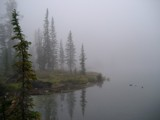 Barking Fox Lake In Mist (Bighorn Crags) by somiaj, Photography->Shorelines gallery