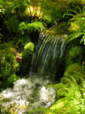 Garden Stream by CanoeGuru, photography->waterfalls gallery