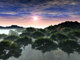 Trees & Fog by ryzst, Computer->Landscape gallery