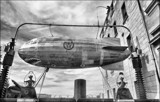 Retro-futuristic Steampunk Blimp by LynEve, contests->b/w challenge gallery