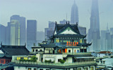 Teahouse with Pudong Background. by Mythmaker, photography->city gallery