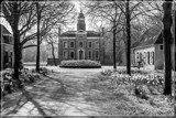 Castle 'Duinbeek' In The Spring (BW) by corngrowth, contests->b/w challenge gallery