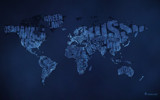 Typographic World Map (Night) by vladstudio, illustrations->digital gallery