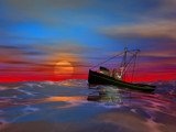 A Sunset at Sea by DixieNormus, Computer->3D gallery