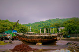 A Old boat in a small local ship yard awaiting repairs by amit_3693, photography->boats gallery
