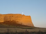 Moon coming over the Hill by ladydi6733, photography->landscape gallery