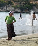 A woman in beach Karadere - Antalya by osifa, photography->people gallery