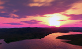Panoramic Sunset by timw4mail, computer->landscape gallery