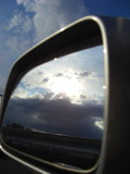 Rearview Mirror by ccmerino, Photography->Skies gallery