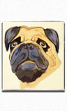A Pug Painting by bfrank, illustrations gallery
