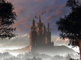 My Fantasy Castle in the Alps by DigitalFX, Computer->Landscape gallery
