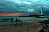 Twilight at St Marys by biffobear, photography->lighthouses gallery