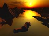 Slow Sunset by kjh000, Computer->Landscape gallery