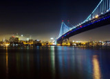 Philadelphia and the Ben Franklin Bridge by nburwell, Photography->City gallery