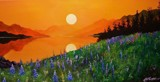 EARLY MORNING LUPINS by nuke88, illustrations->traditional gallery