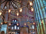 Inside the Blue Mosque, Istanbul, Turkey by donmarchand, Photography->Manipulation gallery