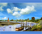 Salt Marsh Creek by Trevorcardigan, Illustrations->Traditional gallery