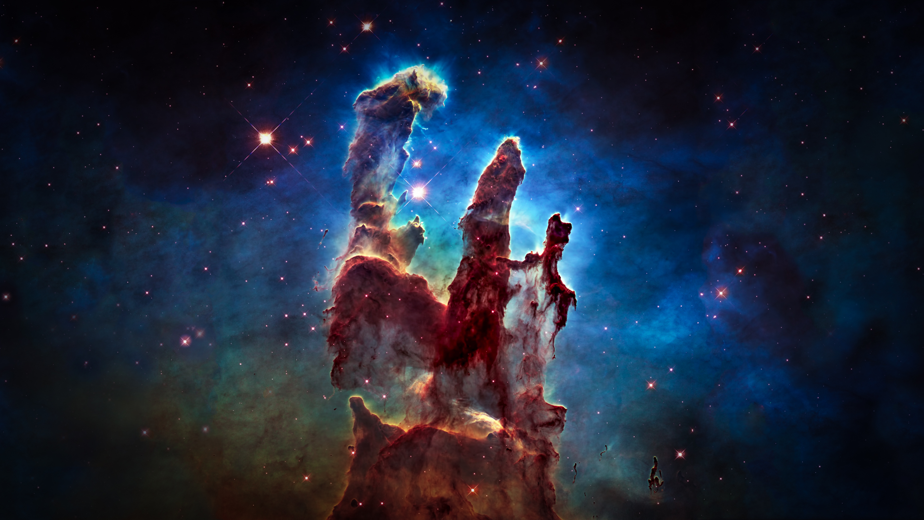 hubble backgrounds pillars of creation - photo #12