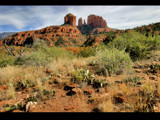 desert view of cathedral rock by jeenie11, Photography->Mountains gallery