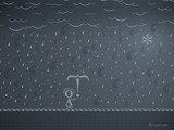 Typographic Rain by vladstudio, Illustrations->Digital gallery