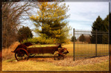 Cart By The Fence by Jimbobedsel, Photography->Landscape gallery