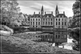 Castle Reflections in B&W by corngrowth, photography->castles/ruins gallery