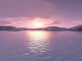 Arctic Sunset2 by rhelms, Computer->Landscape gallery