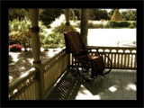 Victorian Wheelchair on the porch by kimcande, Photography->Still life gallery