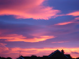 Sunrise over houses by Jenny112, Photography->Skies gallery