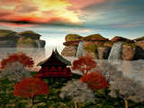 Asian Retreat by vicvog, Computer->Landscape gallery