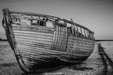 Derelict Boat in Dungeness by morr1sman, contests->b/w challenge gallery