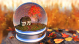 Maple Leaf Globe by Akeraios, computer->landscape gallery