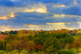 Moody Fall in Watercolor (rework) by Pistos, photography->manipulation gallery