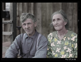 Ozark mountain farmer and wife 1940 by rvdb, photography->manipulation gallery