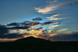 Sunset Rays above Red Mountain by DesertDenizen, photography->skies gallery