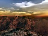 Terragen Red Mountain terrain by Mannie3, computer->landscape gallery
