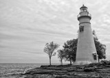 Marblehead Lighthouse B/W by Jimbobedsel, contests->b/w challenge gallery
