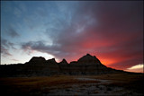 Badlands National Park: Sunrise Silhouette by Nikoneer, photography->sunset/rise gallery