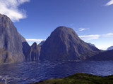 Mountain Basin by timw4mail, computer->landscape gallery