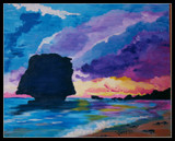 My Painting: The Barbados Rock by verenabloo, Illustrations->Traditional gallery