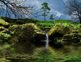 Falling leaves on a secluded stream by biffobear, photography->manipulation gallery