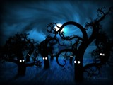 Full Moon in The Midnight Forest by vladstudio, Illustrations->Digital gallery