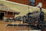 Vintage Train Station Wall Art by mesmerized, photography->trains/trams gallery
